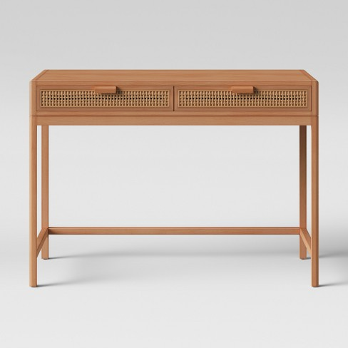 Minsmere Caned Writing Desk Natural Brown Opalhouse
