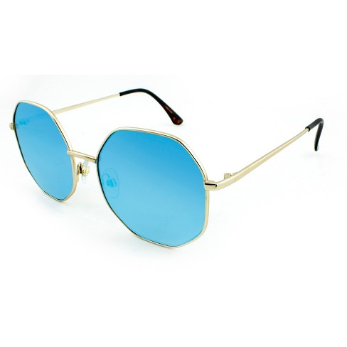 72550ef7cf1 Women s Oversized Sunglasses With Blue Lenses - Wild Fable™ Golden Mist    Target