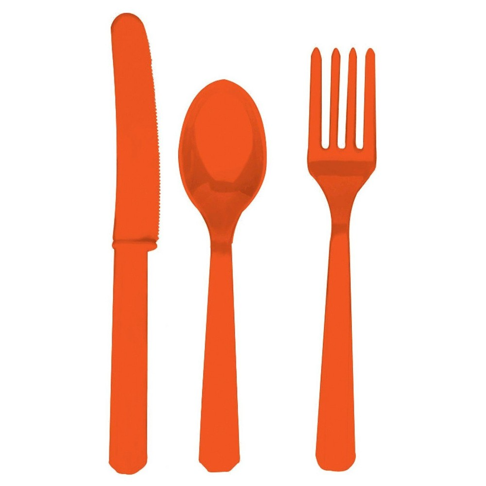 24ct Pink Disposable Cutlery