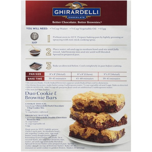 ghirardelli double chocolate brownie mix 20 oz target