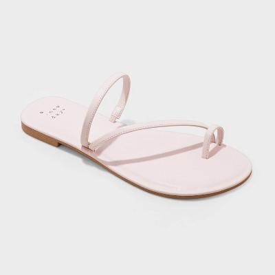 Women's Alix Skinny Strap Toe Loop Sandals - A New Day™