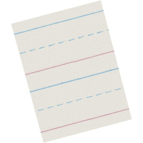 School Smart Zaner-Bloser Paper, 7/8 Inch Ruled, 10-1/2 x 8 Inches, 500 Sheets - image 1 of 1