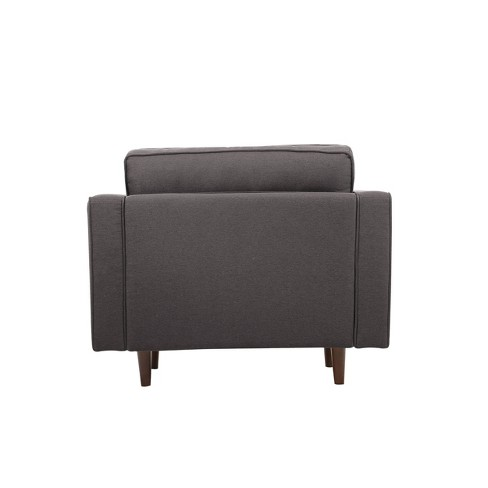 Astounding Tatiana Mid Century Modern Armchair Lifestyle Solutions Machost Co Dining Chair Design Ideas Machostcouk