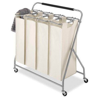 Whitmor Easy-Lift 4-Bag Quad Laundry Sorter