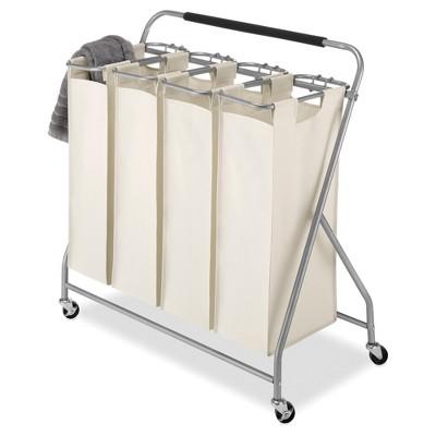 Whitmor Easy-Lift 4-Bag Quad Laundry Sorter