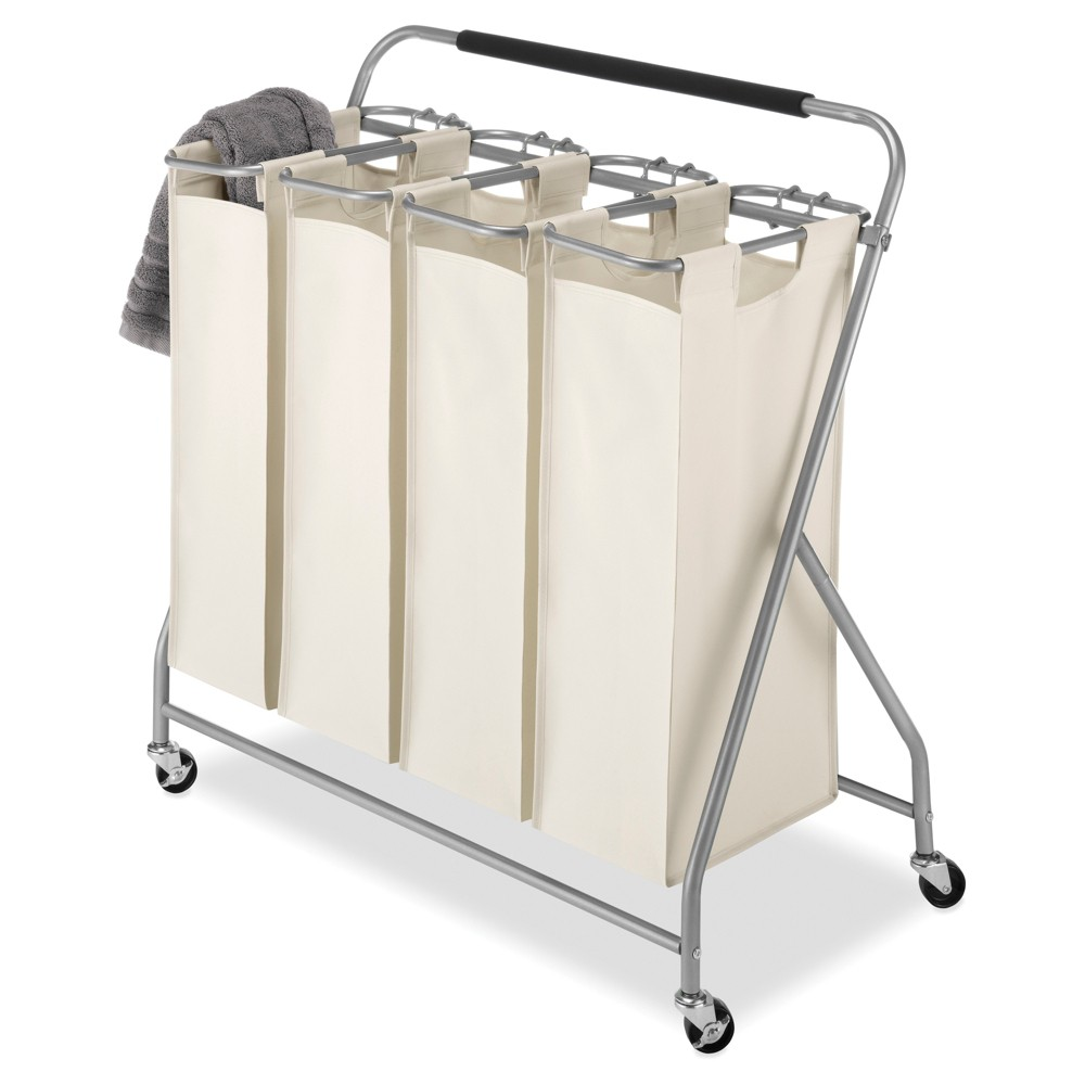 Image of Whitmor Easy-Lift 4-Bag Quad Laundry Sorter
