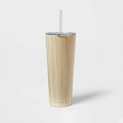 25oz Stainless Steel Vacuum Tumbler with Straw & SAN Slide Lid - Room Essentials™