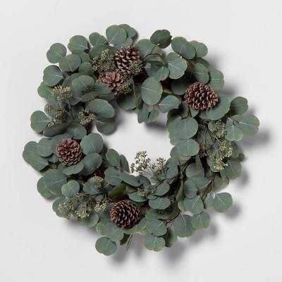 Wreath Eucalyptus Pinecone - Hearth & Hand™ with Magnolia