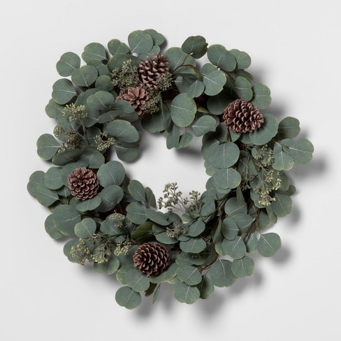 Wreath Eucalyptus Pinecone - Hearth & Hand™ with Magnolia - image 1 of 2