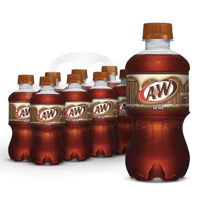 A&W Root Beer Soda - 8pk/12 fl oz Bottles