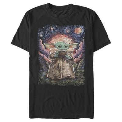 Men's Star Wars The Mandalorian The Child Starry Night T-Shirt