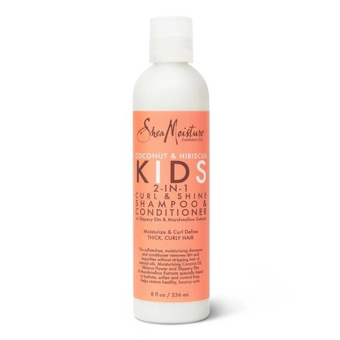 SheaMoisture 2-in-1 Shampoo and Conditioner for Kids Coconut and Hibiscus - 8 fl oz - image 1 of 4