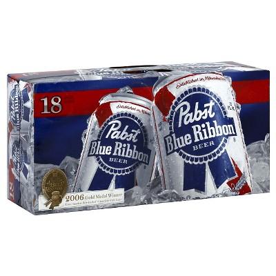 Pabst Blue Ribbon Beer - 18pk/12 fl oz Cans