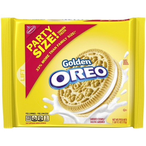 Golden Oreo Party Size Sandwich Cookies - 25.5oz - image 1 of 3
