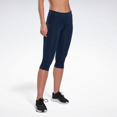 Reebok Workout Ready Capri Leggings Womens Athletic Leggings