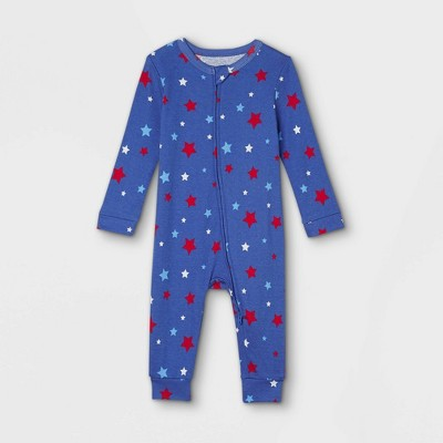 Baby Americana Stars Matching Family Union Suit - Blue