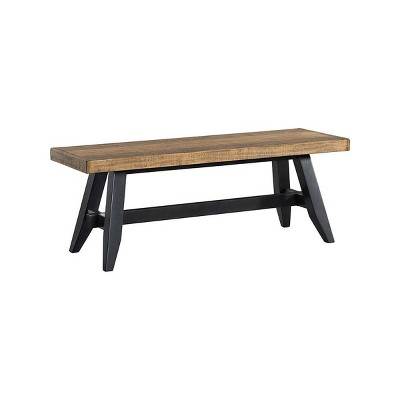 Urban Rustic Backless Dining Bench Brushed Wheat - Intercon