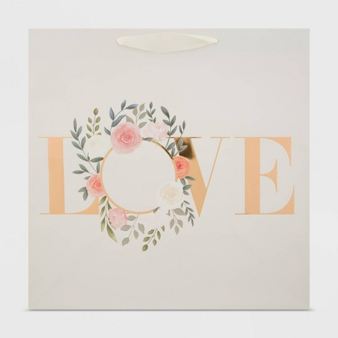Large Love Wreath Gift Bag - Spritz™ - image 1 of 3