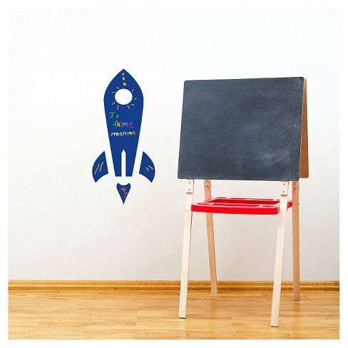 Rocket Wall Decal - Blue - image 1 of 1