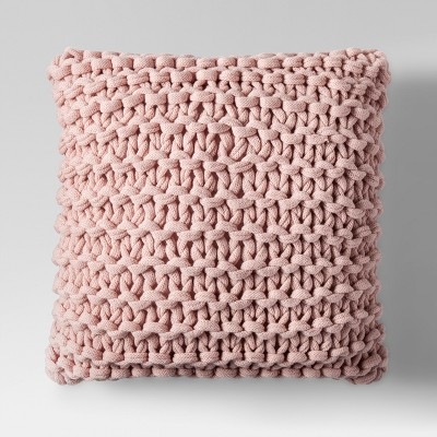 Pink Large Knit Throw Pillow - Project 62™