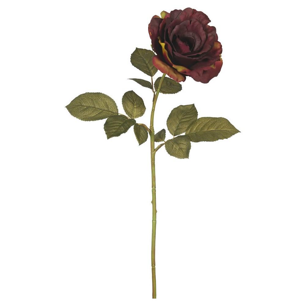 Artificial Autumn French Rose 3pk Dark Burgundy 26 - Vick...