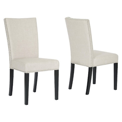 Harrowgate Linen Modern Dining Chair - Beige (Set Of 2) - Baxton Studio - image 1 of 1