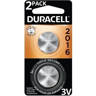 Duracell 2016 Batteries Lithium Coin Button - 2 Pack - Specialty Battery w/ Bitterant Technology