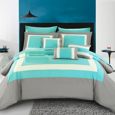 Chic Home Elegant Beau Decorative Pillows & Shams - Turquoise