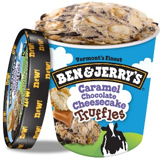 Ben & Jerrys Caramel Chocolate Cheesecake Frozen Truffles - 16oz