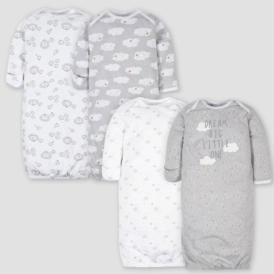 Gerber Baby 4pk Sheep Nightgown - White