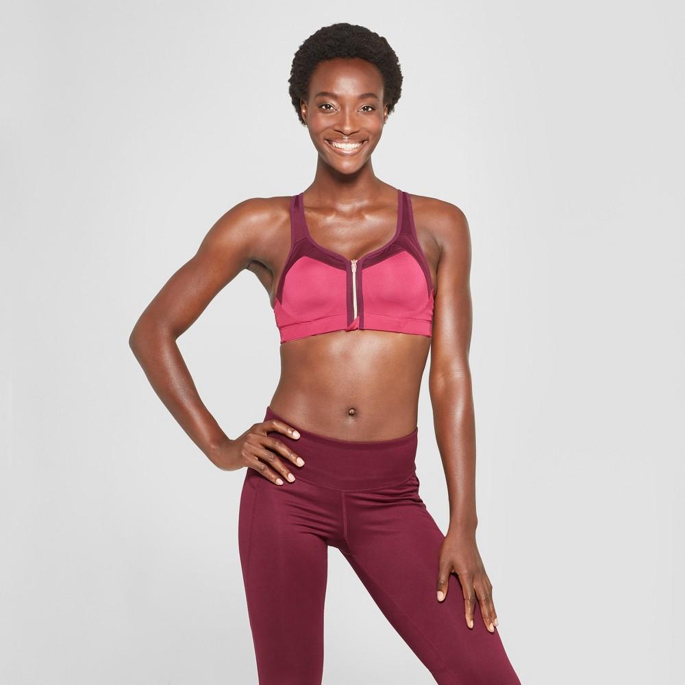 Women's Champion Power Shape Max Support Zip Sports Bra - C9 Champion Berry Delight 36DD