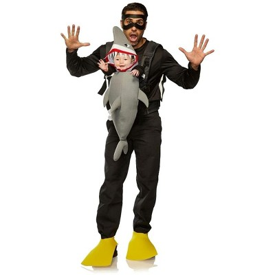 Seeing Red Diver & Shark Adult & Infant Carrier Costume   One Size
