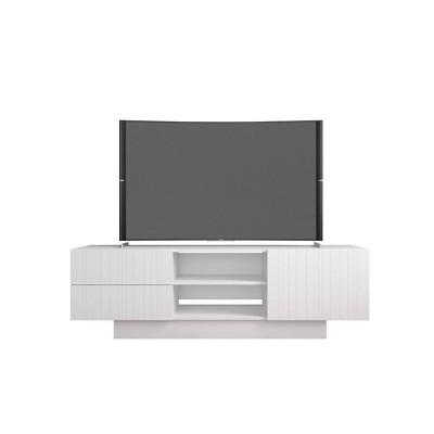 """60"""" Marble Tv Stand White - Nexera"""