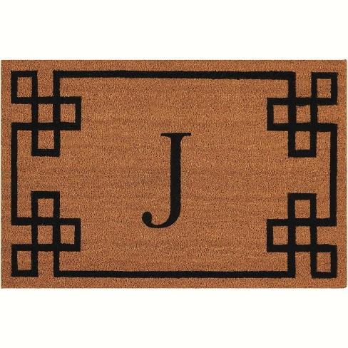 "Nourison Elegant Entry ""J"" Natural Doormat EECMJ 2' x 3' - image 1 of 1"