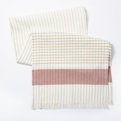 """72"""" x 14"""" Cotton Striped Table Runner - Threshold™ designed with Studio McGee"""