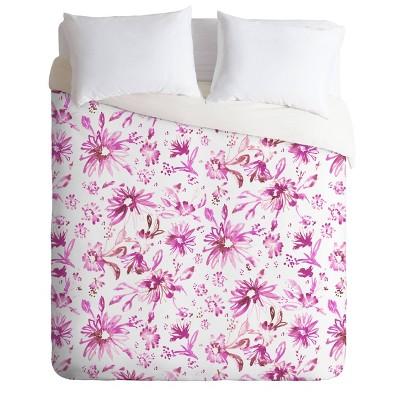Schatzi Brown Lovely Floral Comforter Set