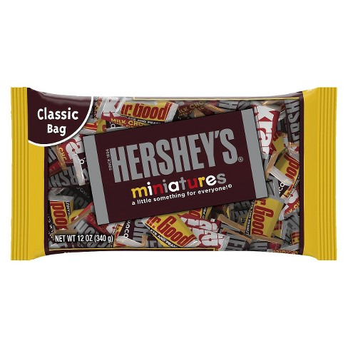 HERSHEY'S Miniatures Classic Bag Chocolate Candy Bars - 12oz - image 1 of 1