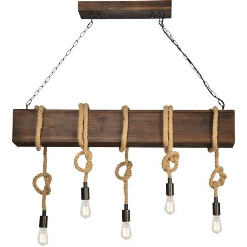 "Ren Wil LPC4347 Jamelle 5 Light 47"" Wide Linear Chandelier - image 1 of 1"