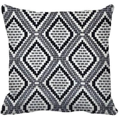 Woven Geo Oversized Square Throw Pillow Black/White - Threshold™