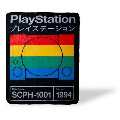 Just Funky PlayStation Fleece Throw Blanket | 45 x 60 Inch Lightweight Blanket