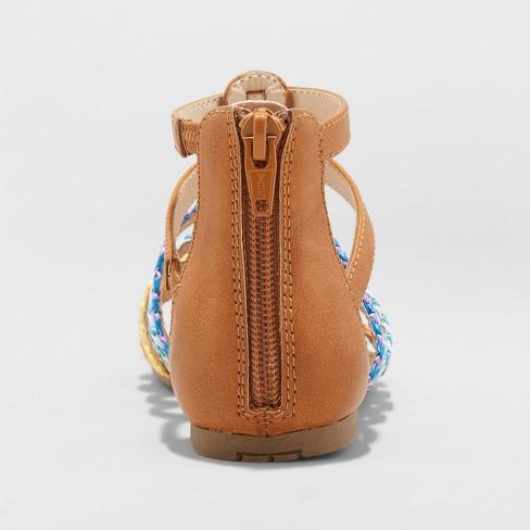 d8ada84c6ae0 Girls  Gladiator Rainbow Valiant Sandals - Cat   Jack™ Cognac 13 ...