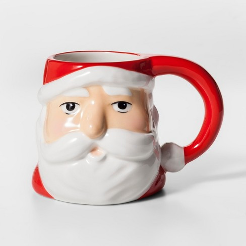 11 4oz earthenware santa mug red white threshold target