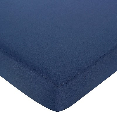 Sweet Jojo Designs Nautical Fitted Crib Sheet - Dark Blue