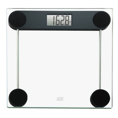 Profile Tempered Glass Digital Bathroom Scale Clear - Optima Home Scales