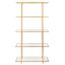 Francis 5 Tier Etagere Gold/Clear - Safavieh