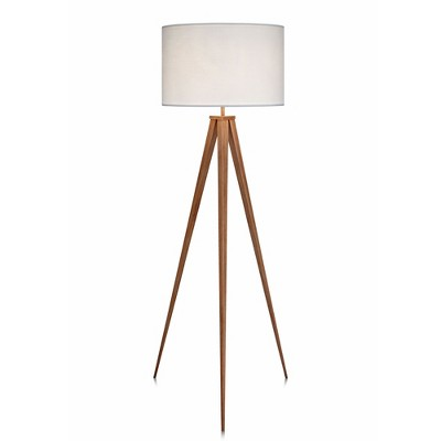 "60"" Romanza Tripod Floor Lamp with White Shade - Versanora"