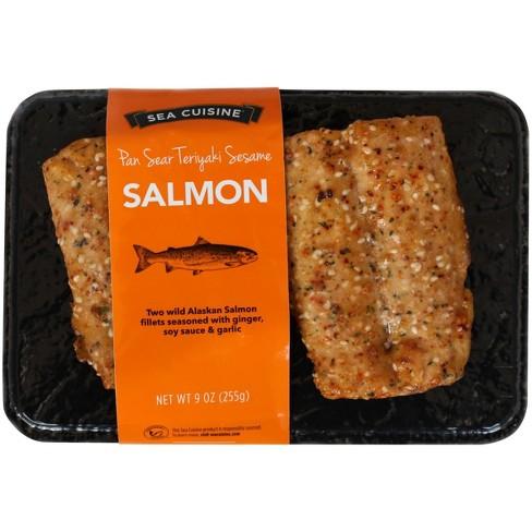 Sea Cuisine Pan Sear Teriyaki Sesame Salmon - Frozen - 9oz - image 1 of 2