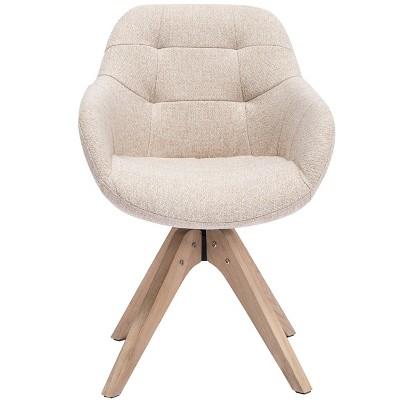 Upholstered Swivel Dining ArmChair -Kinwell