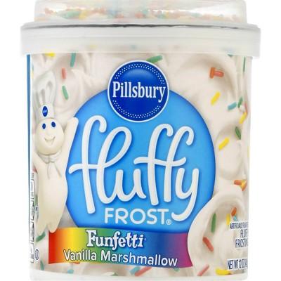 Pillsbury Baking Fluffy Funfetti Vanilla Marshmallow Frosting - 12oz