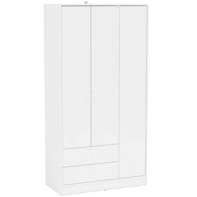 Cambridge 3 Door and 2 Drawer Wardrobe White - Chique